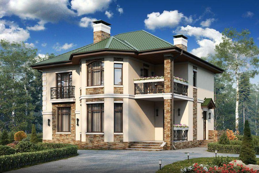 Как сделать красивым фасад двухэтажного дома